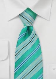 Mint Green Striped Tie