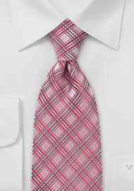 Light Coral Red Necktie