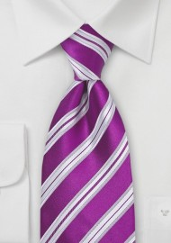 Bright Purple Silk Tie