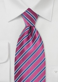 Dark Watermelon - Royal Blue Tie
