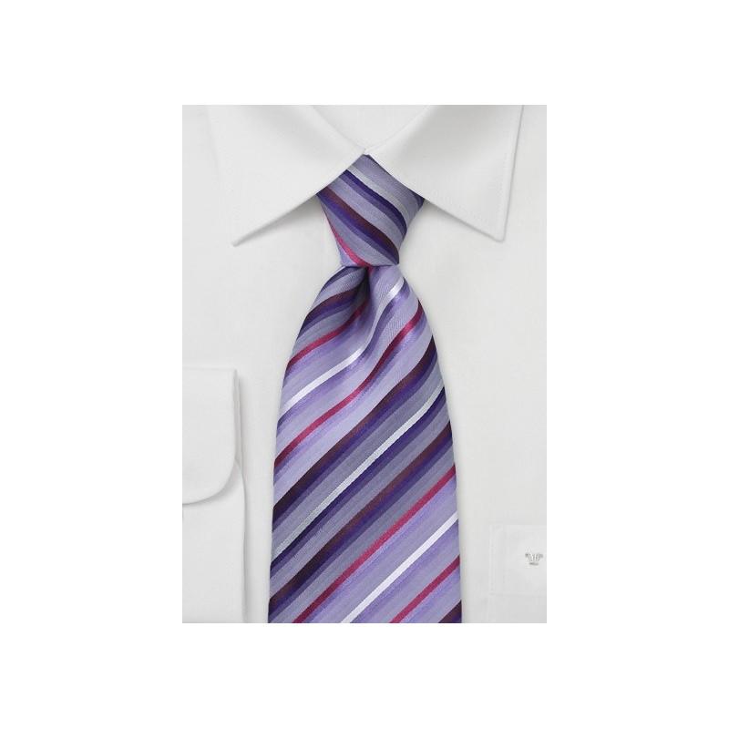 Modern Wisteria Striped Tie