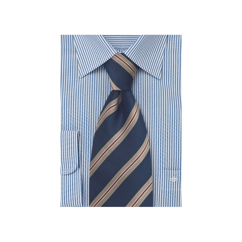 Midnight Blue Regimental Tie