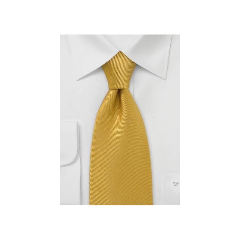 Solid Mustard Yellow Tie
