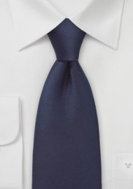 Solid Midnight Blue Silk Tie