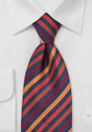 Multi-Orange Striped Tie