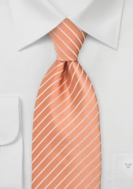 Bright Peach Orange Tie