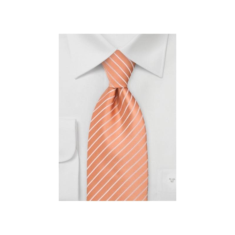 Bright Peach Orange Tie