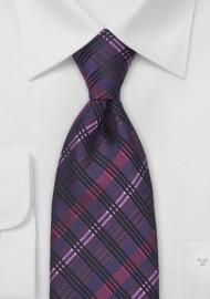 Dark Purple & Pink Silk Tie