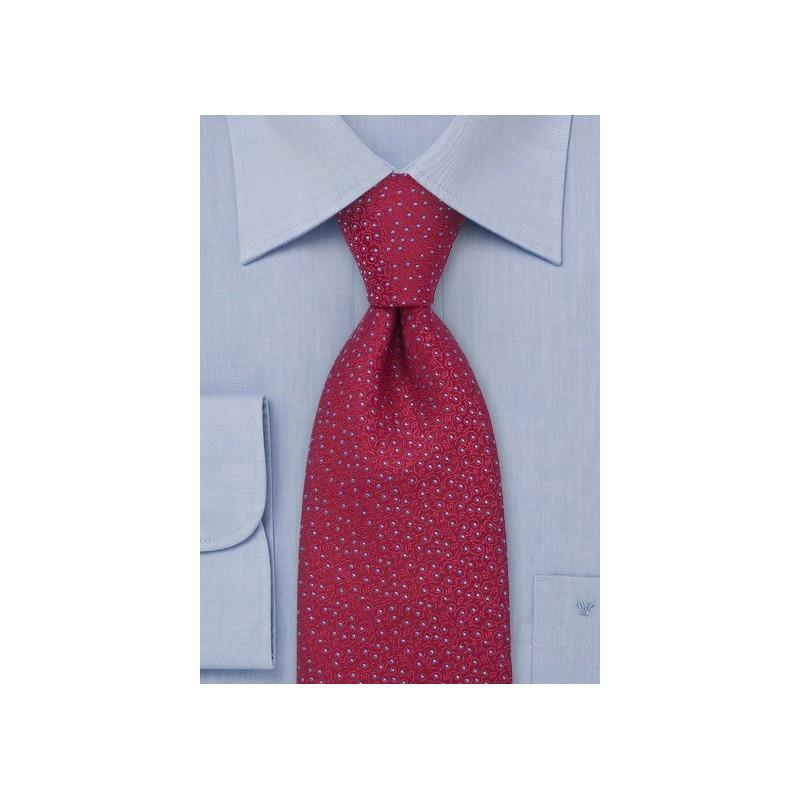 Cherry Red Designer Silk Tie