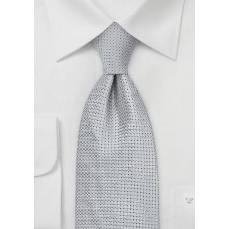 Festive Platinum Silk Tie