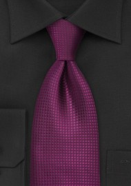 Bright Fuschia Silk Tie