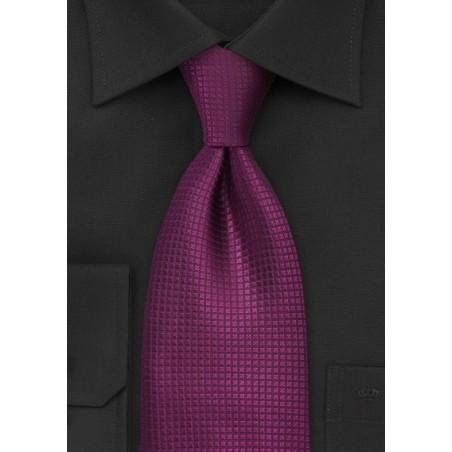 Bright Fuschia Silk Tie
