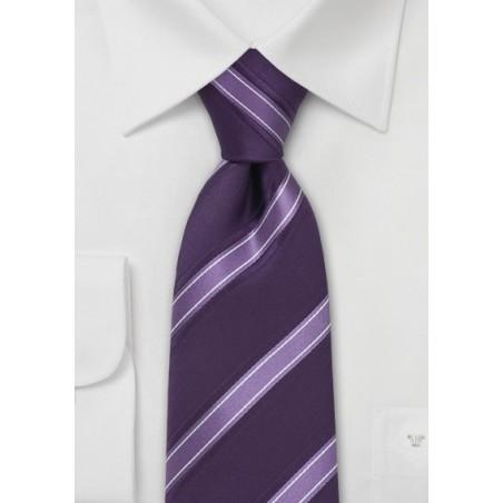 Modern Lavender Striped Tie