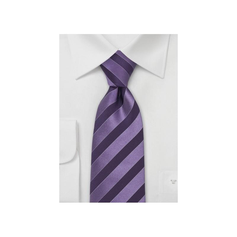 Lavender & Eggplant Striped Tie