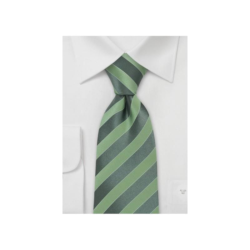 Modern Bright Green Silk Tie