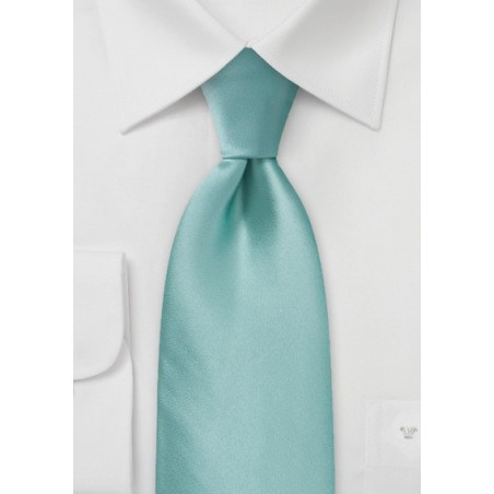 XL Mint Green Silk Tie