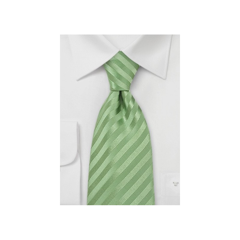 XL Length Light Green Tie