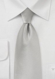 Light Platinum Silver Tie