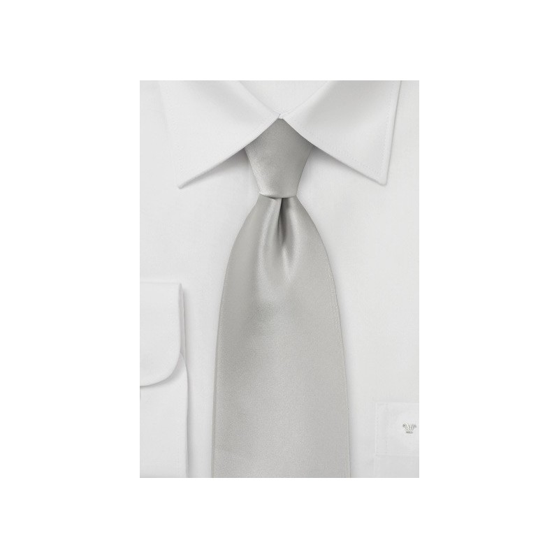 Light Platinum Silver Tie