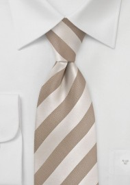 Soft Gold Striped Tie
