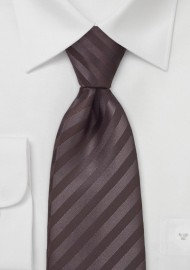 Striped Tie in Espresso