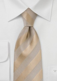 Golden Wheat Striped Tie