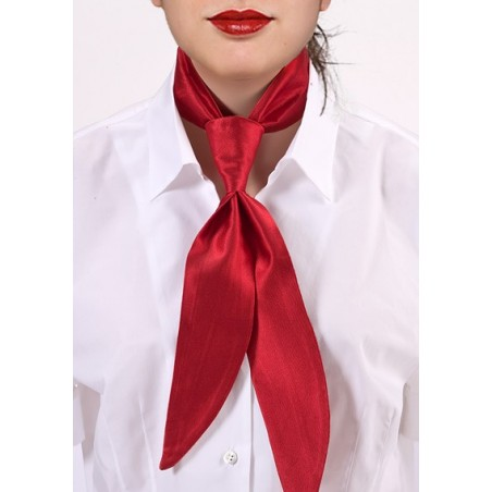 Bright Red Womens Neck Tie