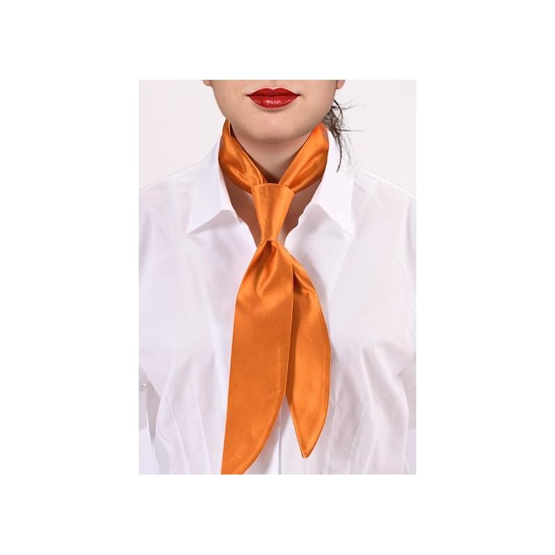 Pumpkin Orange Womens Neck Tie