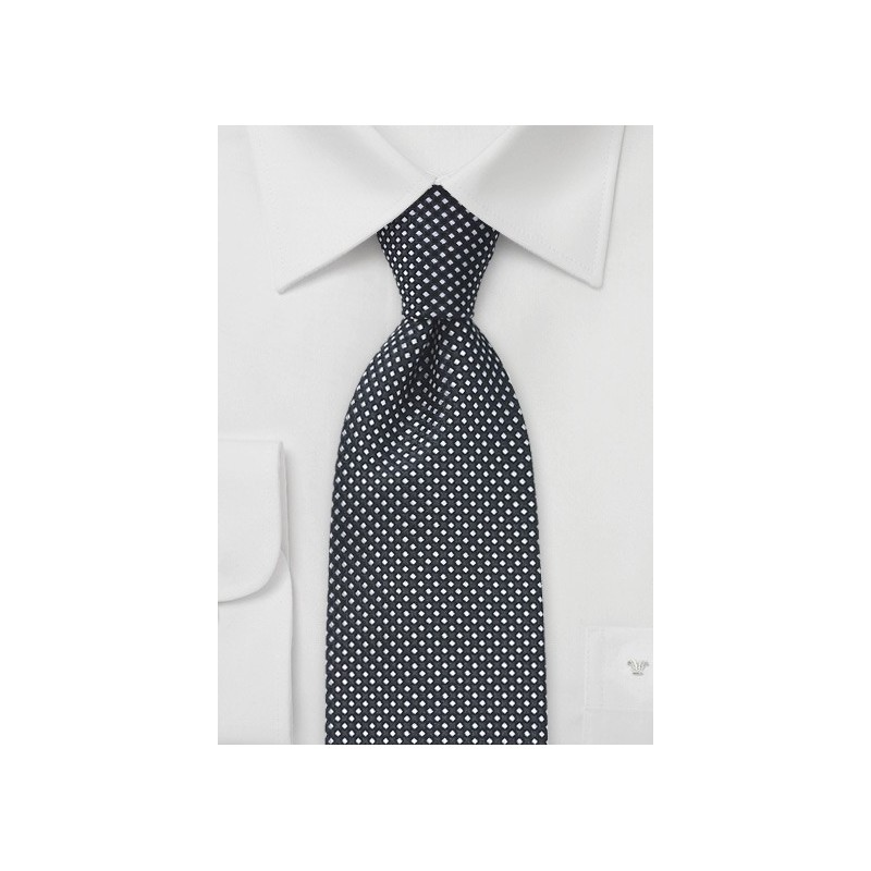 Black and White Patterned Tie