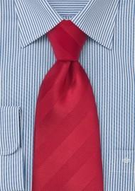Tonal Striped Tie in Proper Red