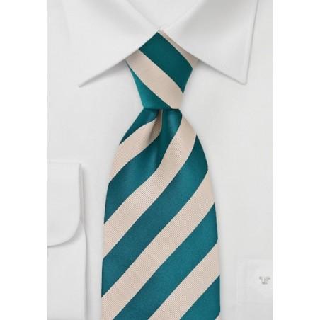 Warm Riviera Blue and Champagne Tie