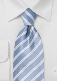 Hydrangea Blue Striped Tie