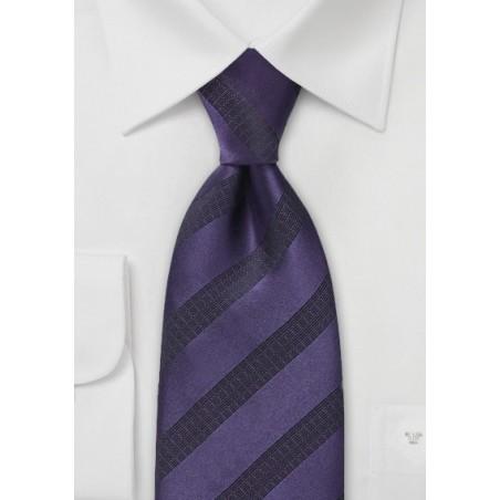 Dark Purple and Black Tie