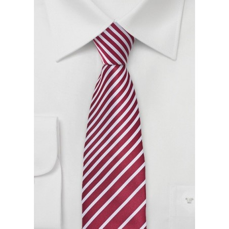 Modern Striped Tie in Rosewood