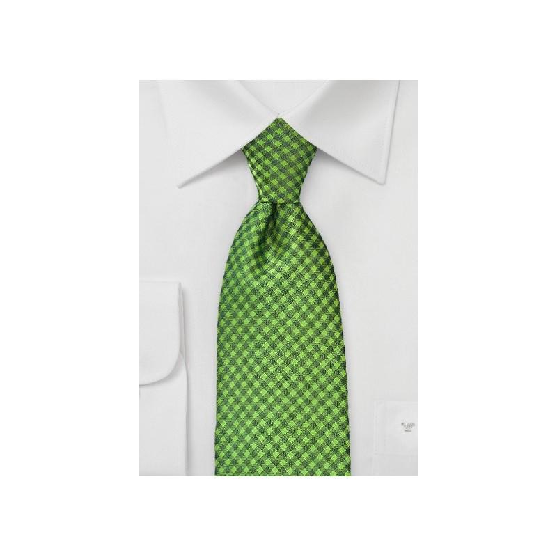 Sycamore Green Checkered Tie