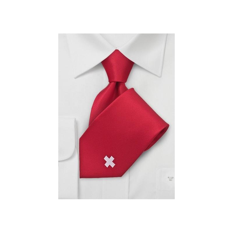 Switzerland Soccer Fan Tie