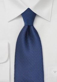 Pacific Blue Tie with Square Pattern