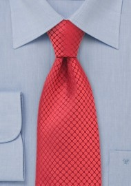 Red Kids Silk Designer Tie