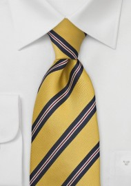 Mustard Yellow and Navy XL Tie