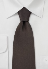 Extra Long Silk Ties Dark Brown