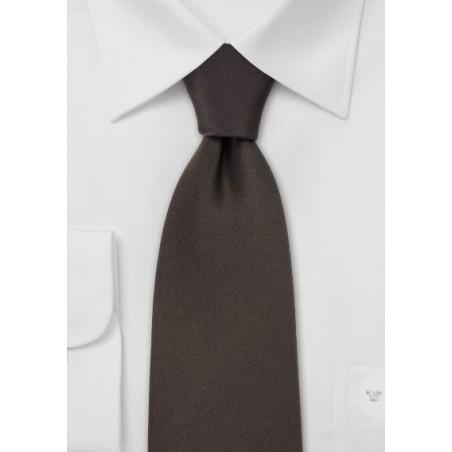 Extra Long Silk Ties Dark Brown