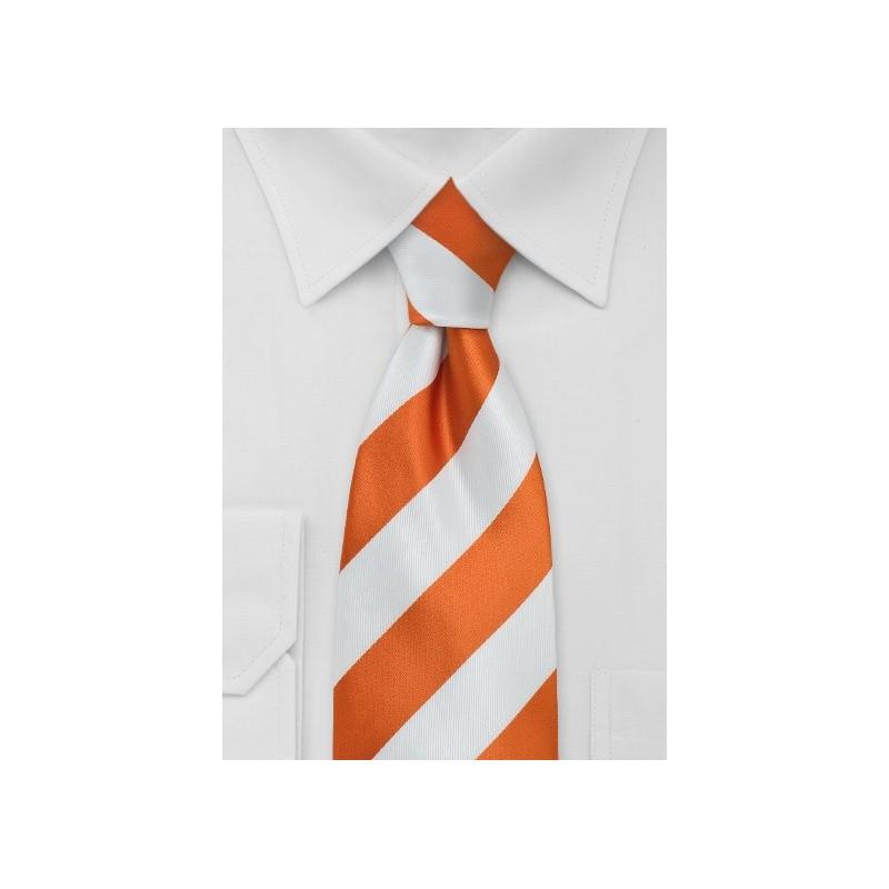 Bright Orange White Kids Tie
