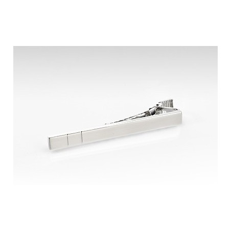Contemporary Silver Tie Clip