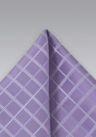 Wisteria Purple Plaid Pocket Square