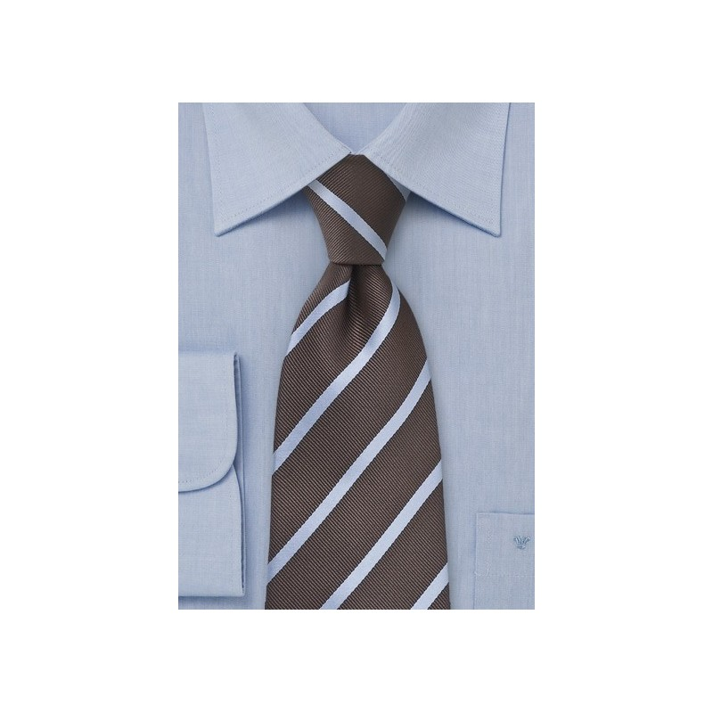 Espresso Brown and Grey Tie