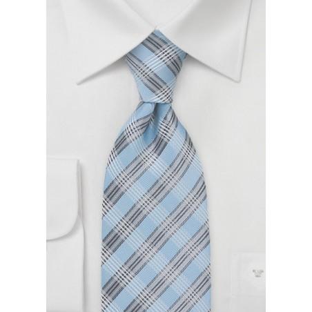 Powder Blue Patterned Tie