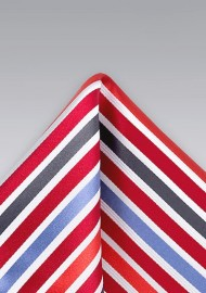 Primary Striped Pocket Square