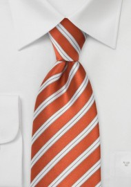 Modern XL Length Orange Tie