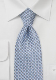 Modern Blue Diamond Patterned Tie
