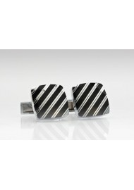 Black and Silver Cufflinks